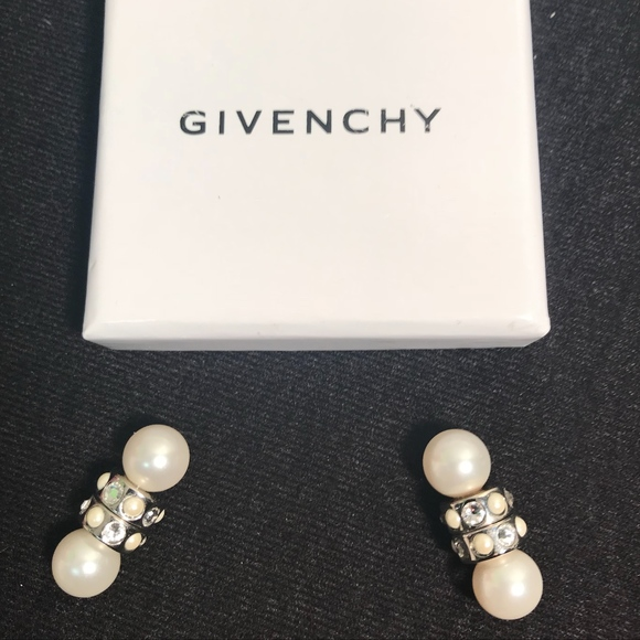 84b254684 Givenchy Jewelry | Magnetic Double Crystal And Pearl Earring | Poshmark